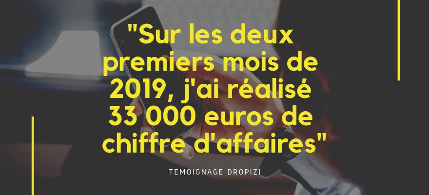 Témoignage d'Antoine : J'ai gagné 33 000 euros en 2 mois avec ma boutique Dropizi !