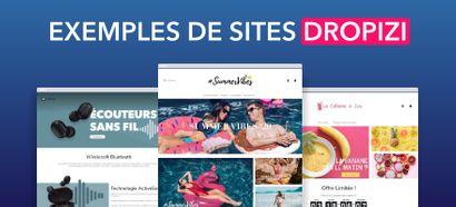 3 Exemples de boutiques Dropshipping créées sur Dropizi pour vous inspirer !